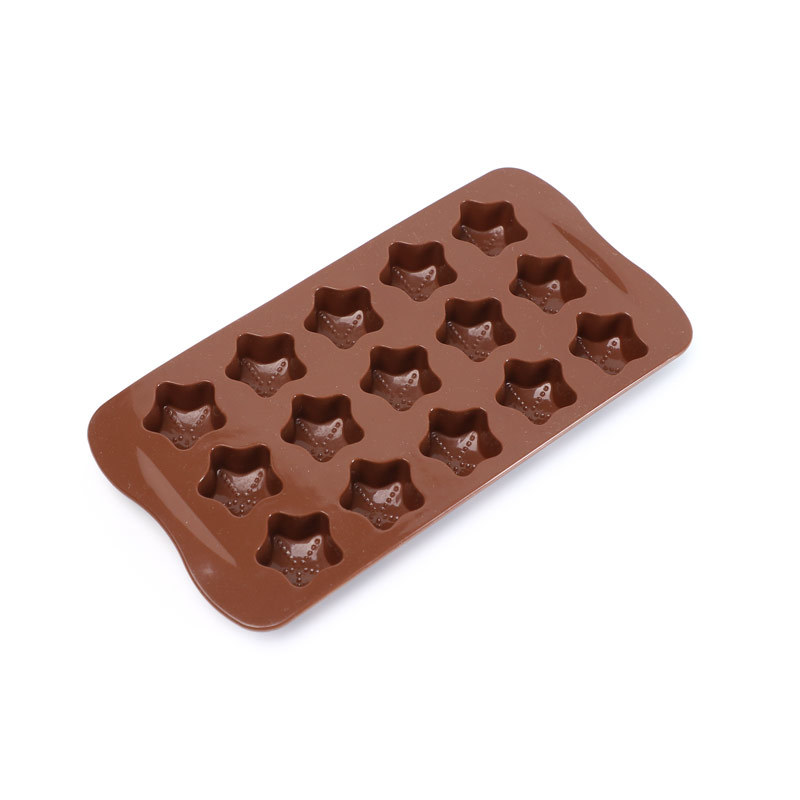 15 Hole Piglet Five-pointed Star Chocolate Biscuit Cake Makes Food Grade Silicone Mold