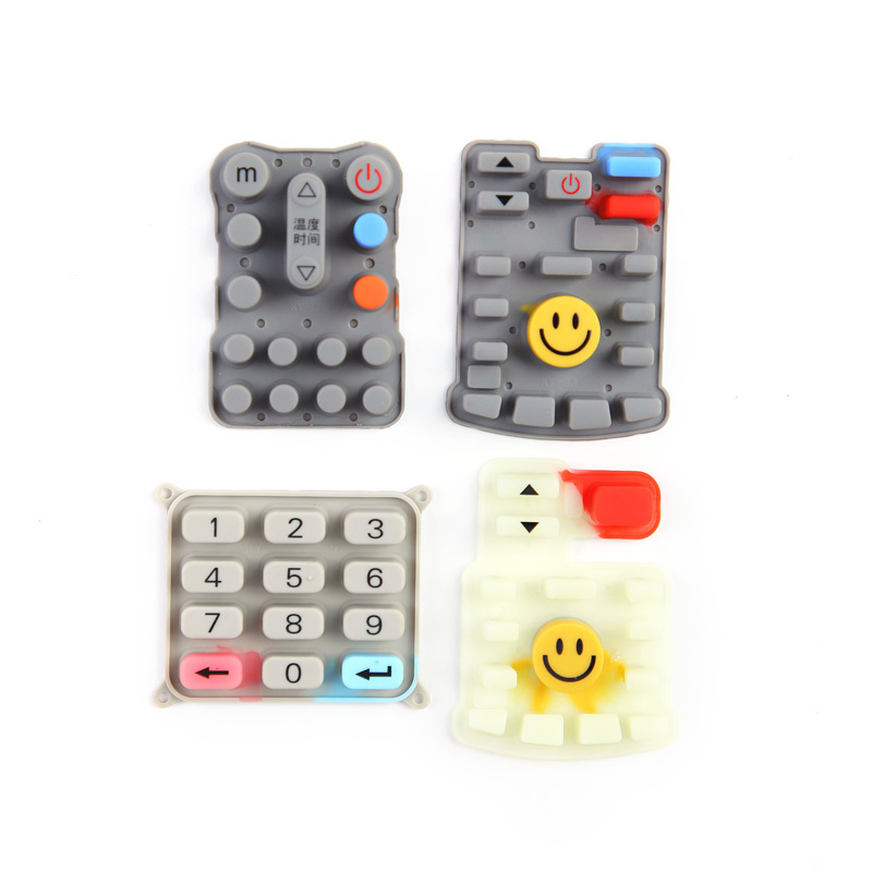 Silicone Rubber Conductive Rubber Keypad For Air Conditioner Remote Control