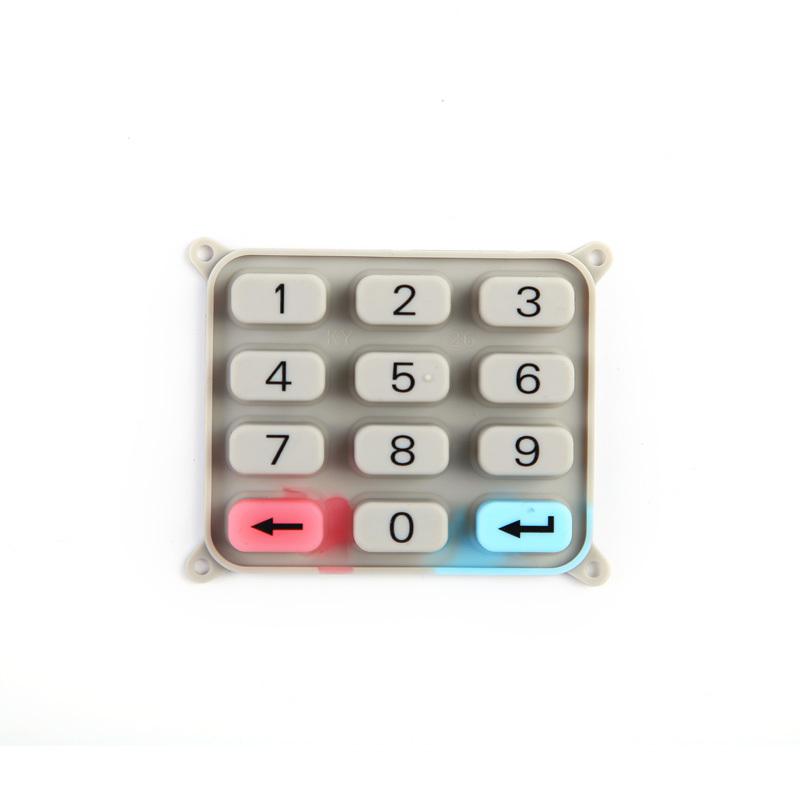 Silicone Rubber Conductive Rubber Keypad For Air Conditioner Remote Control