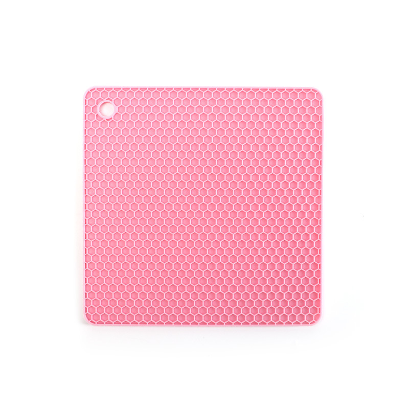 Square Honeycomb Food Grade Insulation Silicone Trivet Mat