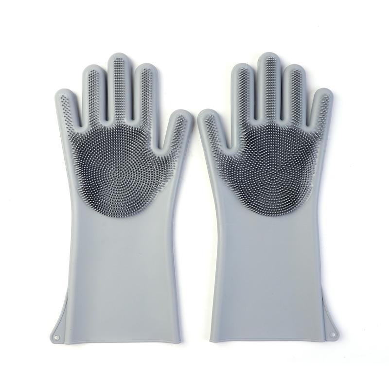 Multifunctional Silicone Dishwashing Gloves Insulation Non-slip