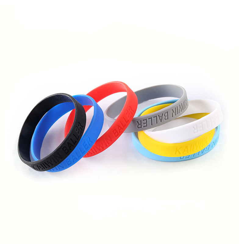 Customized Embossed And Debossed Color Silicone Bracelet