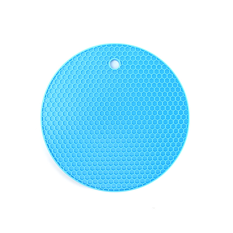 Thick Round Honeycomb Food Grade Silicone Placemat Insulation Pad