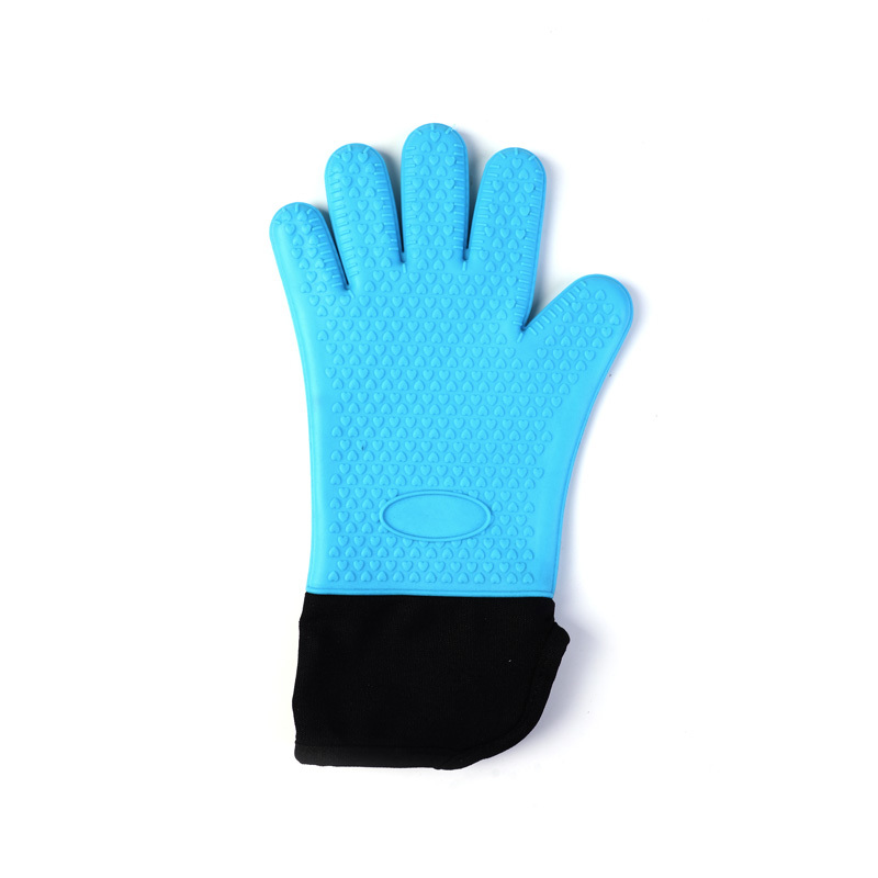 Plus Cotton Long Cloth Insulation Non-slip Silicone Gloves
