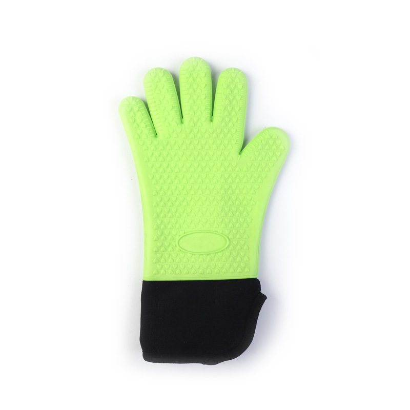 Plus Cotton Long Cloth Insulation Non-slip Silicone Gloves