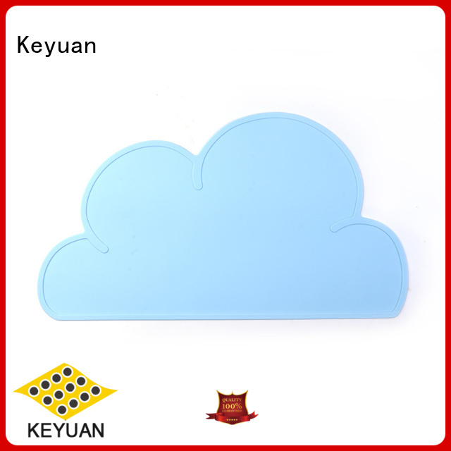 Keyuan 202*12*2 mm Silicone Placemat Insulation Pad Non-slip For meal