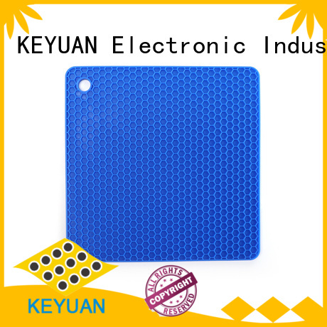 Keyuan 18*18*0.8cm silicone household products Insulation Pad For meal