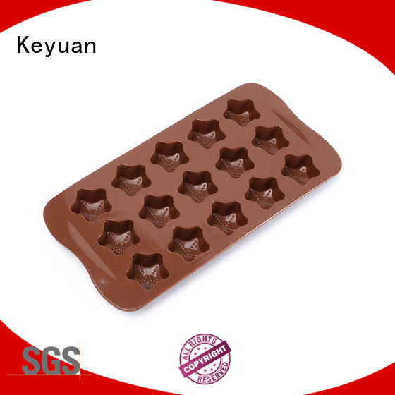 Keyuan Non-slip silicone ice cube trays shapes For ice cube