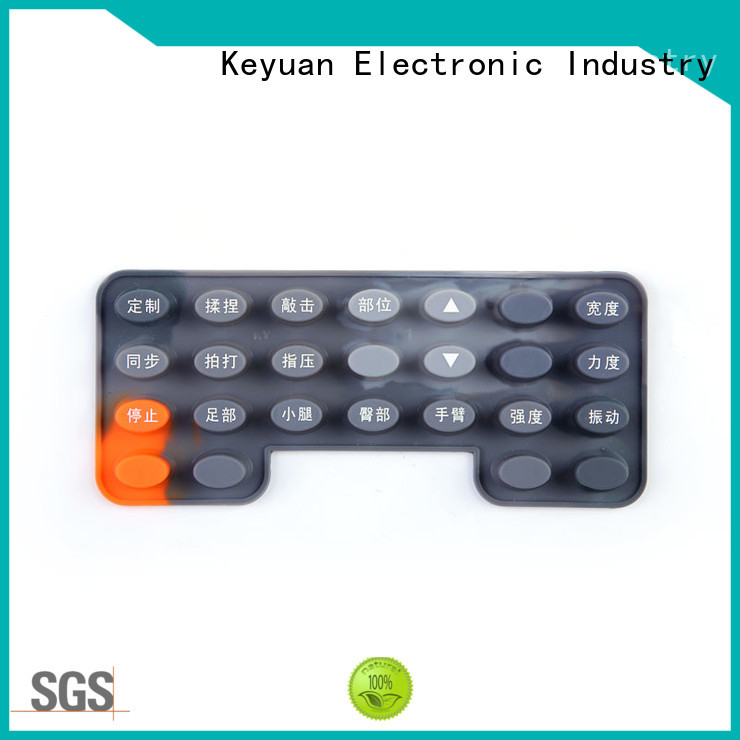 Silicone Rubber Button Keypad For Massage Chair
