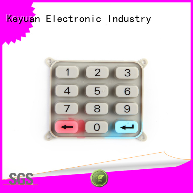 Keyuan best silicone rubber buttons below 100Ω For Rubber Product