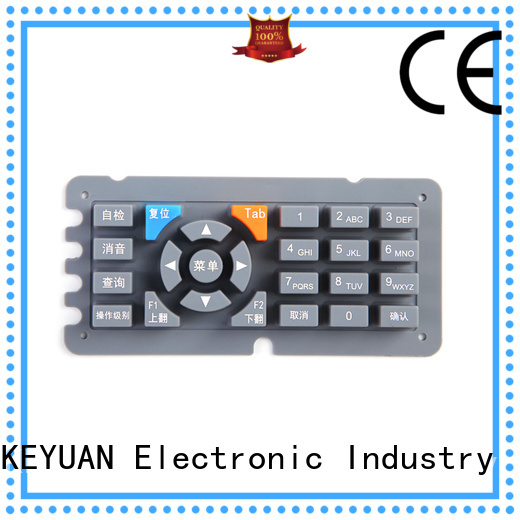 Keyuan 0.3-0.9mm silicone rubber products Panel For Air Conditioner Remote Control