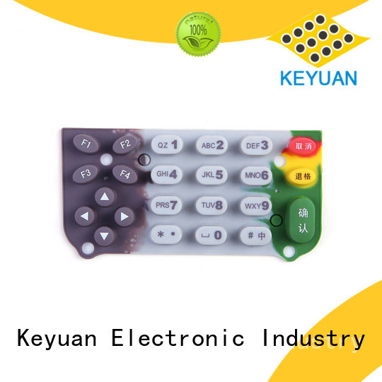 Keyuan below 100Ω silicone rubber products combo For Keypad
