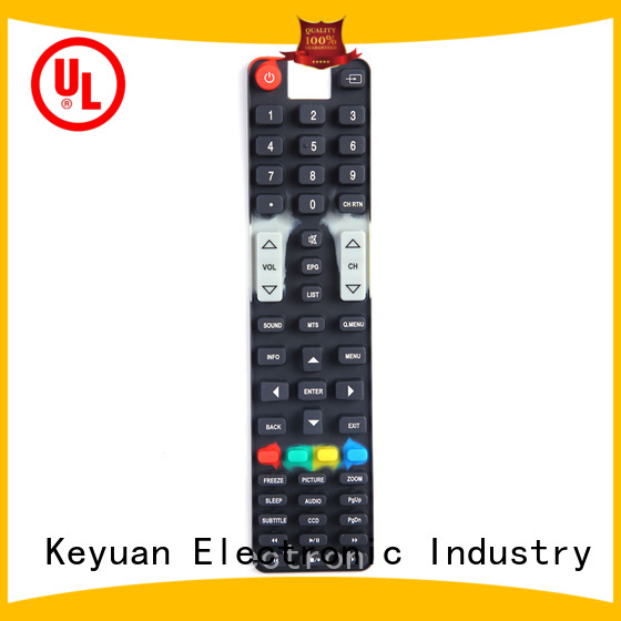 Keyuan approved silicone rubber products factory price for remote control