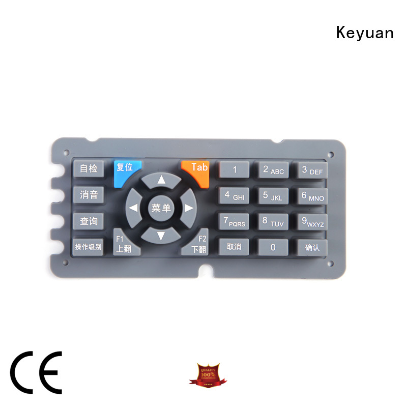 Keyuan below 100Ω silicone rubber products Panel For Air Conditioner Remote Control