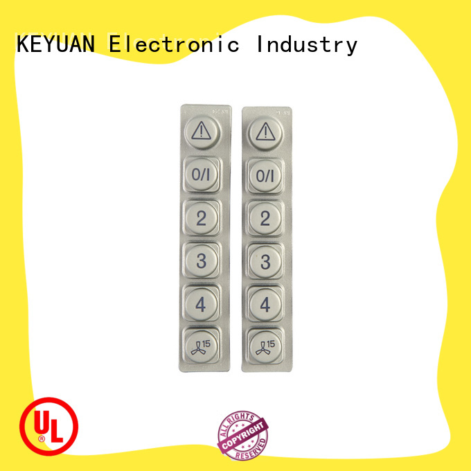 Keyuan 0.3-0.9mm silicone rubber products customized For Keypad