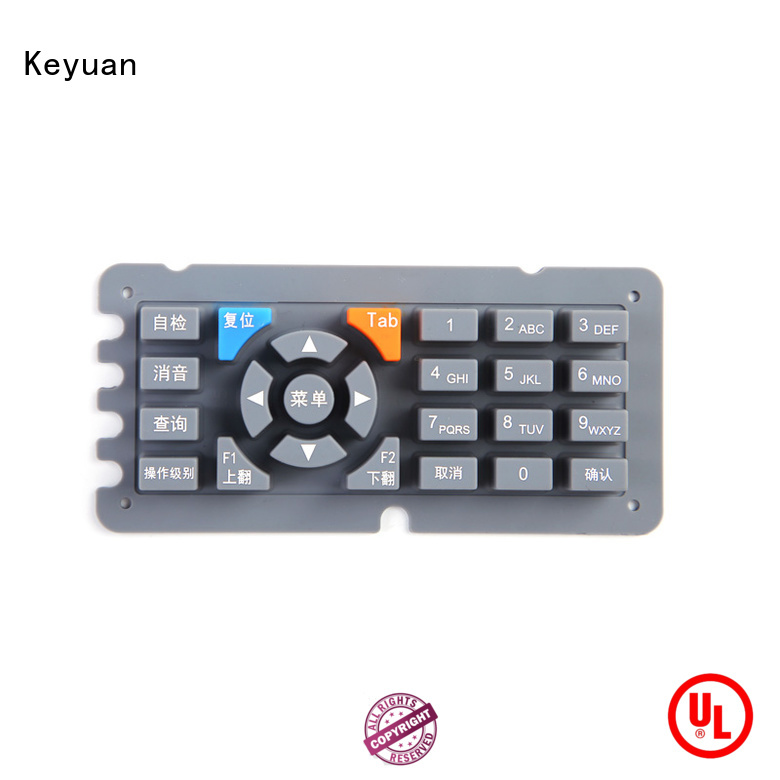 Keyuan 0.3-0.9mm silicone rubber products manufacturer OEM/DEM For electronic