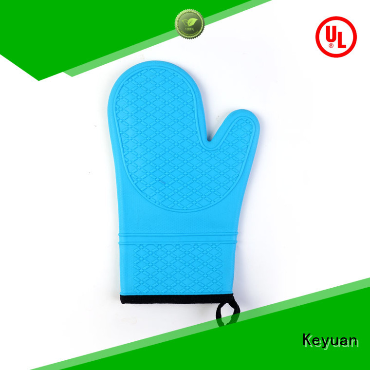 Long Section Plus Cotton Insulation Non-slip Silicone Gloves Heat Resistant
