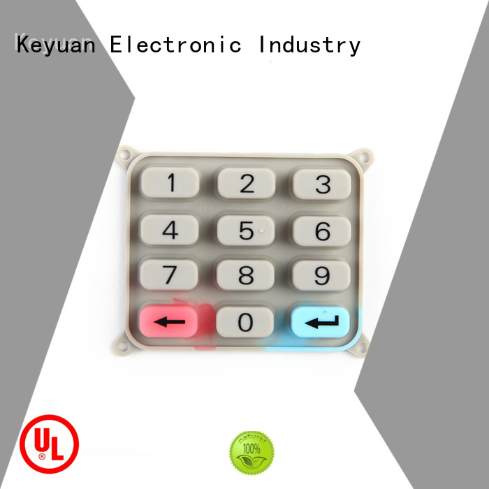 Keyuan below 100Ω silicone rubber products manufacturer OEM/DEM For Massage Chair