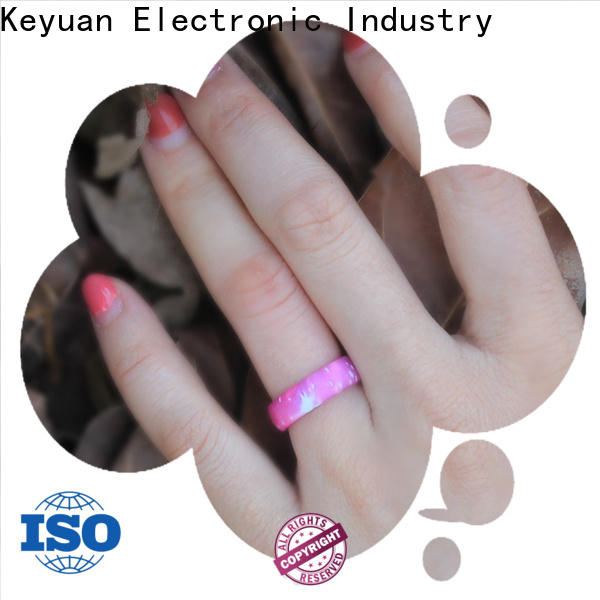 Keyuan hot-selling silicone wedding rings manufacturer free sample