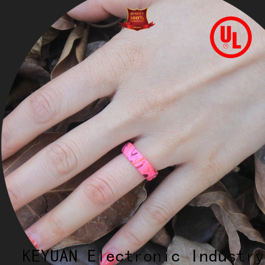 Keyuan rubber wedding rings company fast delivery