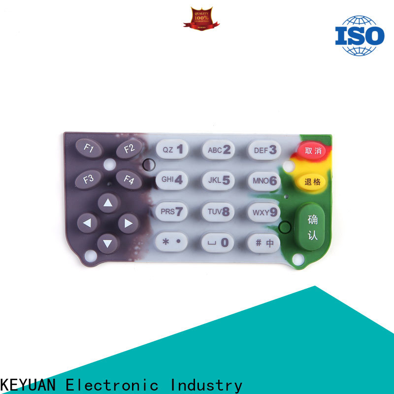 Keyuan approved silicone rubber products manufacturer factory price for remote control