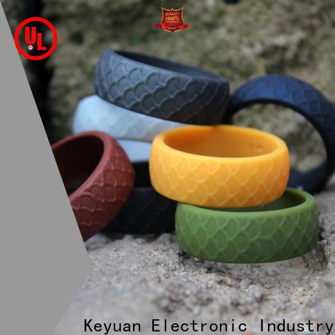 Keyuan quality assured best silicone wedding bands manufacturer free sample
