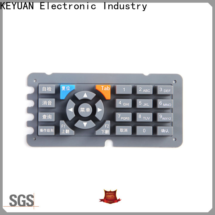 Keyuan excellent silicone rubber products manufacturer personalized for keypad