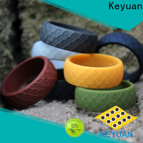 Keyuan durable best silicone wedding bands supplier free sample