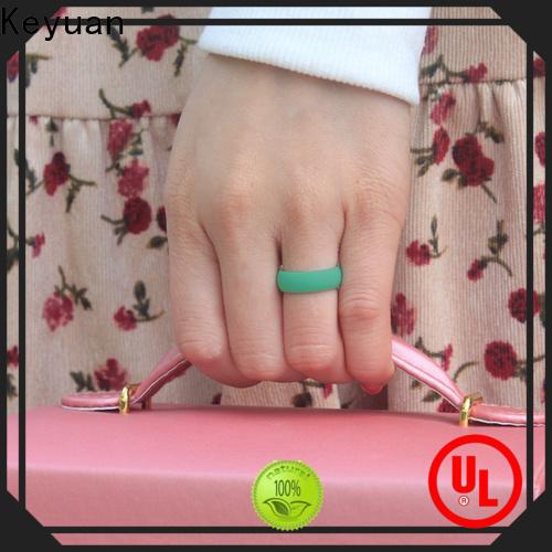 Keyuan hot-selling rubber wedding rings company free sample