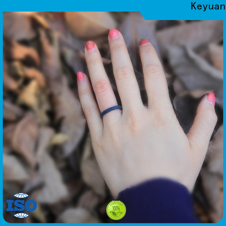 Keyuan quality assured silicone wedding bands company free sample