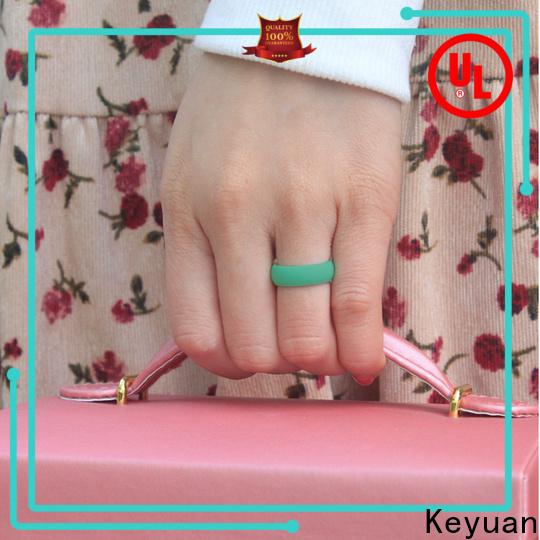 Keyuan silicone engagement ring factory free sample