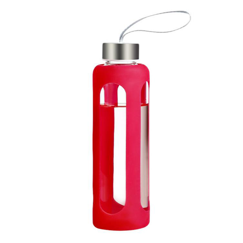 Glass Water Bottles With Silicone Sleeve