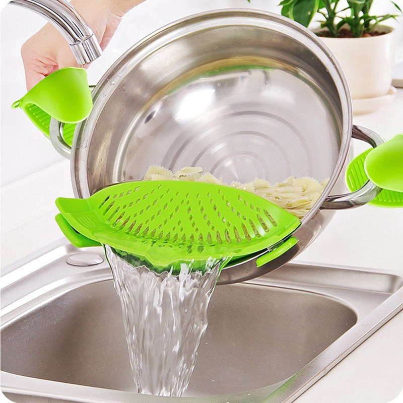 product-Silicone Clip-on Stew-Pan Strainer-Keyuan-img-1