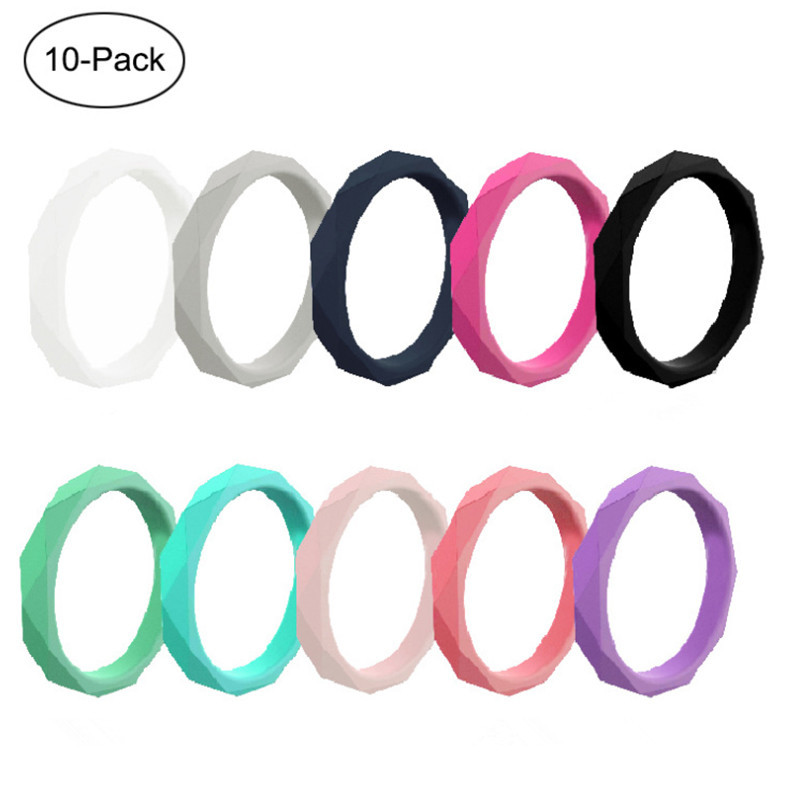 Rhombic Silicone Ring