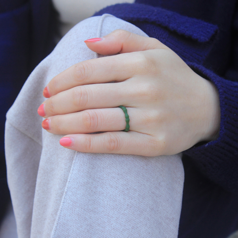Bamboo Joint Silicone Lady`s Outdoor Sports Ring