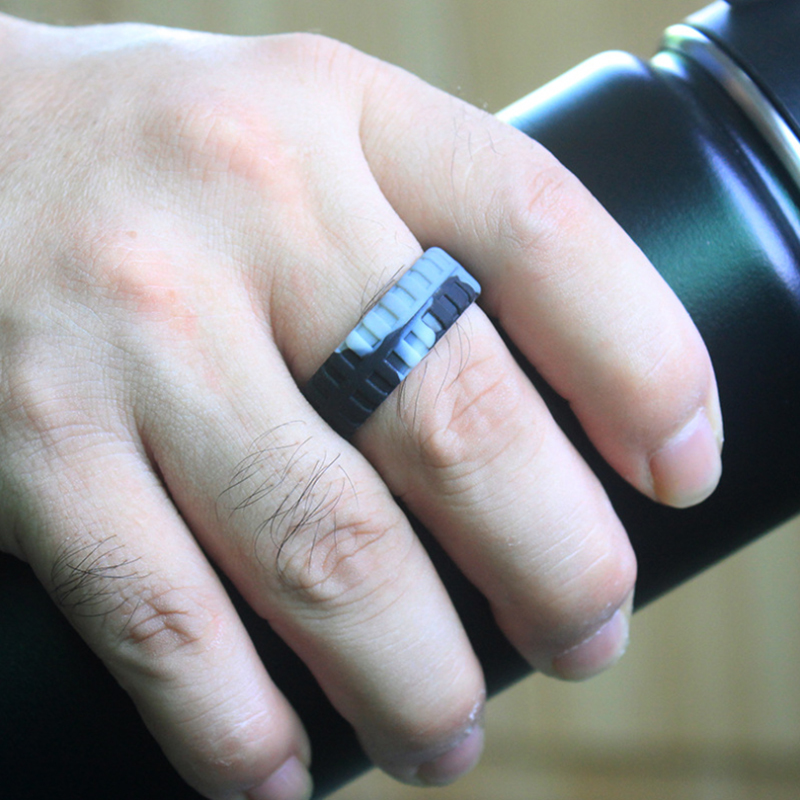 Tyre Pattern Silicone Ring