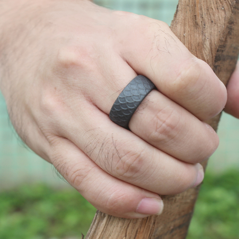 Fish Scale Pattern Silicone Ring
