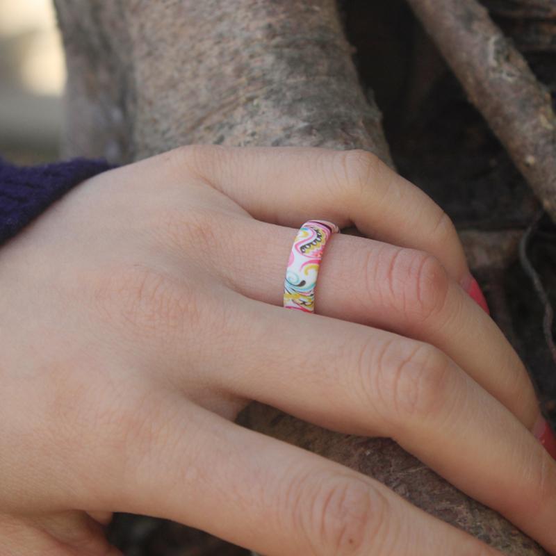 Bohemia Paisley Pattern Silicone Ring