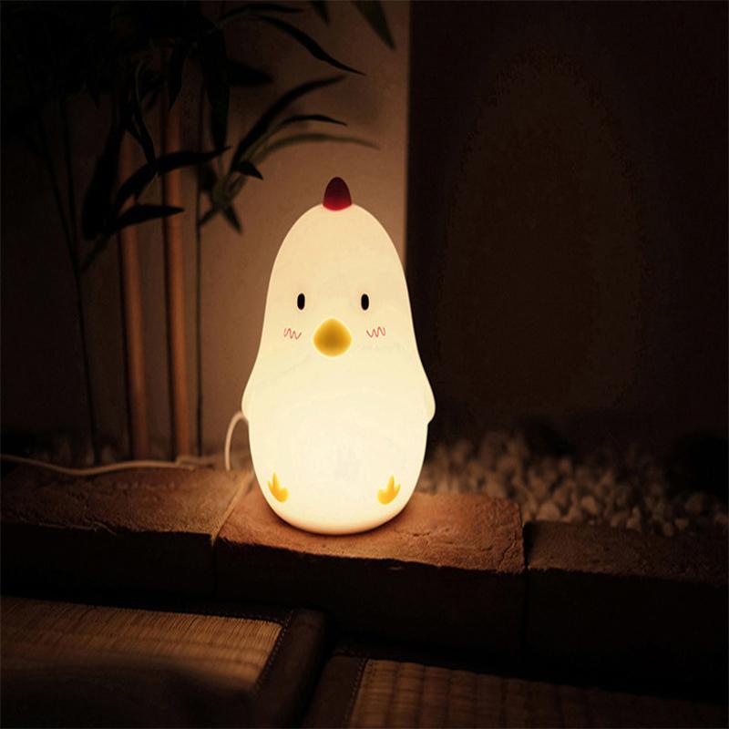 Wake Up Chicken Silicone Night Light
